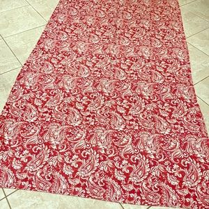Huge Red & White Paisley Tablecloth by TAHARI HOME